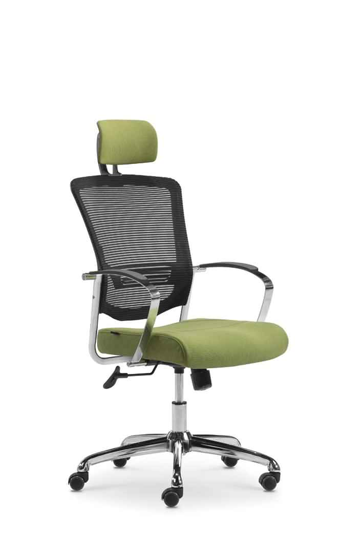 swivel high mesh back fabric seat head rest office chair