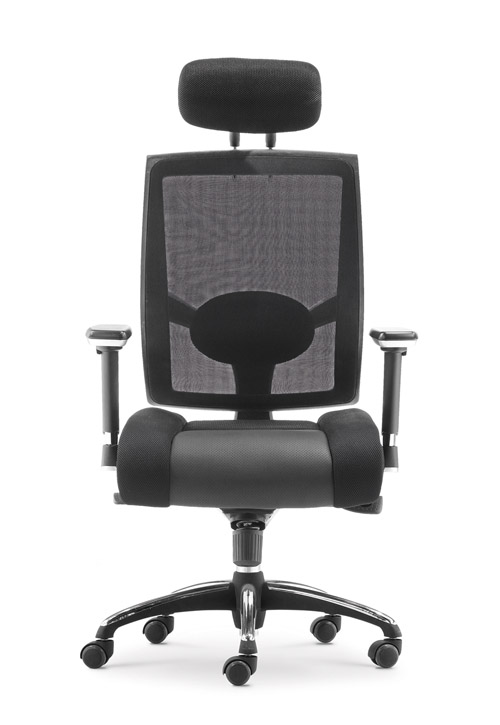 High back mesh metal chrome base office chair