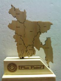 Laser cut Bangladesh map Dhaka