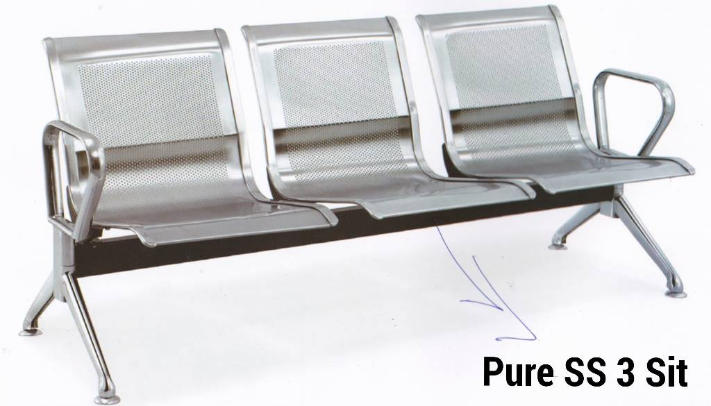 Pure Steel Waiting Visitor Sofa Chair Dhaka Bangladesh