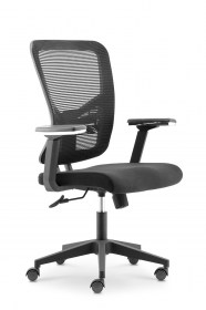 Mid mesh back fabric seat nylon base office chair