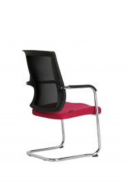 Visitor chair with armrest