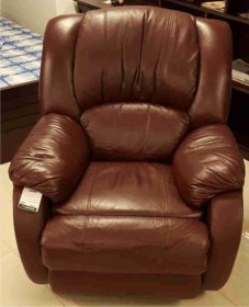 Leather recliner single Sofa